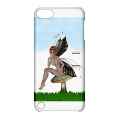 Fairy Sitting On A Mushroom Apple Ipod Touch 5 Hardshell Case With Stand by goldenjackal