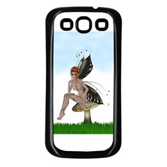 Fairy Sitting On A Mushroom Samsung Galaxy S3 Back Case (black) by goldenjackal