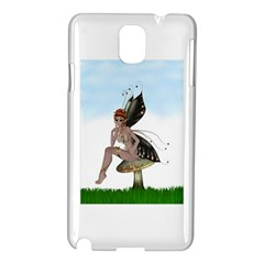 Fairy Sitting On A Mushroom Samsung Galaxy Note 3 N9005 Hardshell Case by goldenjackal
