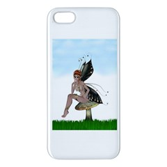 Fairy Sitting On A Mushroom Iphone 5s Premium Hardshell Case by goldenjackal