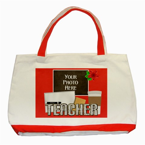 Teacher Tote By Lisa Minor   Classic Tote Bag (red)   Vk37raqudzj8   Www Artscow Com Front