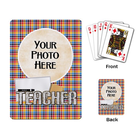 Teacher Playing Cards By Lisa Minor   Playing Cards Single Design   8onad7we4rrm   Www Artscow Com Back
