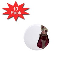 Steampunk Style Girl Wearing Red Dress 1  Mini Button Magnet (10 Pack) by goldenjackal