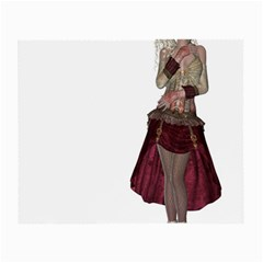 Steampunk Style Girl Wearing Red Dress Glasses Cloth (small) by goldenjackal