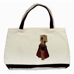 Steampunk Style Girl Wearing Red Dress Classic Tote Bag by goldenjackal