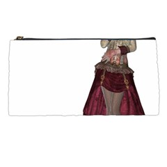 Steampunk Style Girl Wearing Red Dress Pencil Case