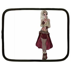 Steampunk Style Girl Wearing Red Dress Netbook Sleeve (xxl)