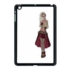 Steampunk Style Girl Wearing Red Dress Apple Ipad Mini Case (black) by goldenjackal