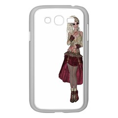 Steampunk Style Girl Wearing Red Dress Samsung Galaxy Grand DUOS I9082 Case (White) by goldenjackal