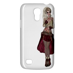 Steampunk Style Girl Wearing Red Dress Samsung Galaxy S4 Mini (gt I9190) Hardshell Case