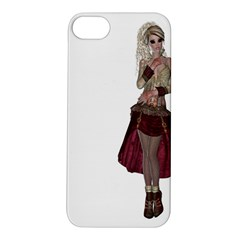 Steampunk Style Girl Wearing Red Dress Apple Iphone 5s Hardshell Case by goldenjackal