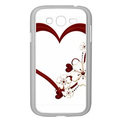 Red Love Heart With Flowers Romantic Valentine Birthday Samsung Galaxy Grand Duos I9082 Case (white) by goldenjackal