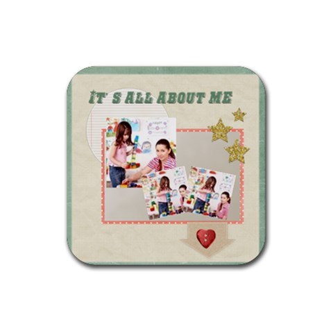 Kids By Kids   Rubber Coaster (square)   0cpr956mc0r2   Www Artscow Com Front