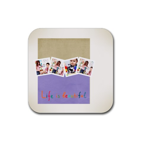 Kids By Kids   Rubber Coaster (square)   Btlfp1spsbh9   Www Artscow Com Front