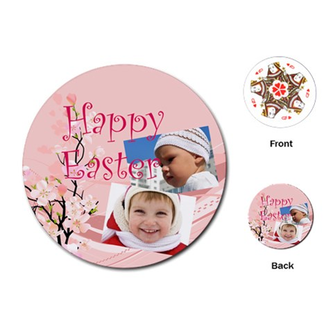 Easter By Easter   Playing Cards (round)   So6zrog87yah   Www Artscow Com Front