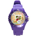 easter - Round Plastic Sport Watch (L)