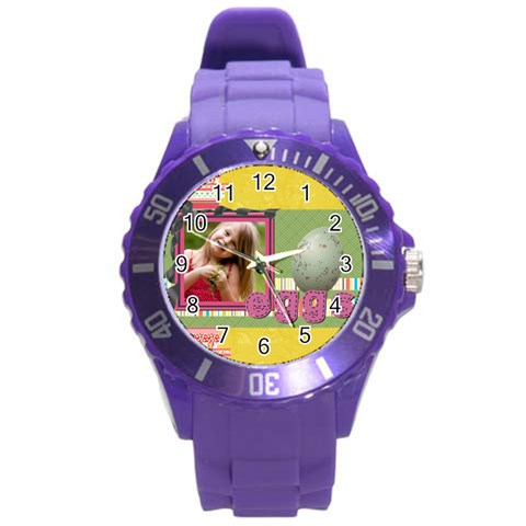 Easter By Easter   Round Plastic Sport Watch (l)   3gjpbnwd5qf5   Www Artscow Com Front