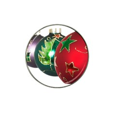 Christmas Ornaments in a Row Hat Clip Ball Marker by DesignMonaco