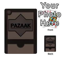 Pazaak Deck Part 2 By Star Wars Fan   Playing Cards 54 Designs   B9rlnl4g356a   Www Artscow Com Back