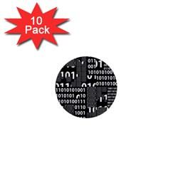 Beauty Of Binary 1  Mini Button (10 Pack)
