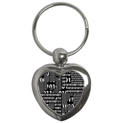 Beauty Of Binary Key Chain (heart)