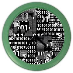 Beauty Of Binary Wall Clock (color)