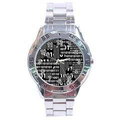 Beauty Of Binary Stainless Steel Watch