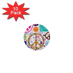 Peace Collage 1  Mini Button (10 Pack) by StuffOrSomething