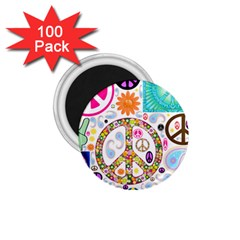 Peace Collage 1 75  Button Magnet (100 Pack) by StuffOrSomething