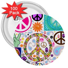 Peace Collage 3  Button (100 Pack) by StuffOrSomething