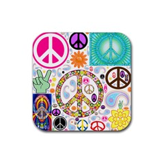Peace Collage Drink Coaster (square) by StuffOrSomething