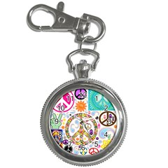 Peace Collage Key Chain & Watch