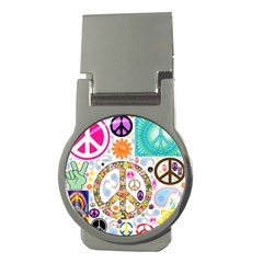 Peace Collage Money Clip (round) by StuffOrSomething