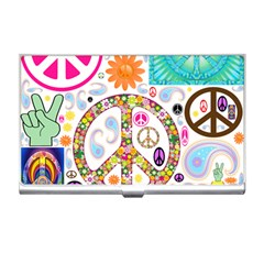 Peace Collage Business Card Holder by StuffOrSomething