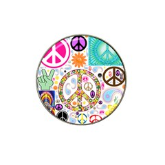 Peace Collage Golf Ball Marker 4 Pack (for Hat Clip) by StuffOrSomething
