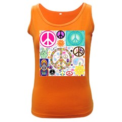 Peace Collage Women s Tank Top (dark Colored)