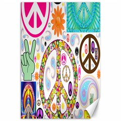 Peace Collage Canvas 12  X 18  (unframed) by StuffOrSomething