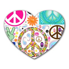Peace Collage Mouse Pad (heart)