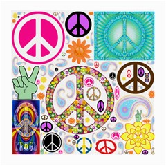 Peace Collage Glasses Cloth (medium) by StuffOrSomething
