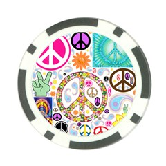 Peace Collage Poker Chip by StuffOrSomething