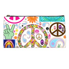 Peace Collage Pencil Case