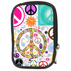 Peace Collage Compact Camera Leather Case by StuffOrSomething