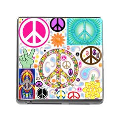 Peace Collage Memory Card Reader With Storage (square) by StuffOrSomething