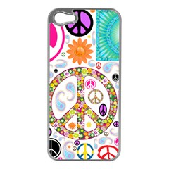 Peace Collage Apple Iphone 5 Case (silver)