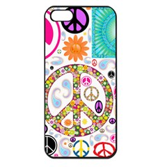 Peace Collage Apple Iphone 5 Seamless Case (black)
