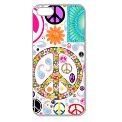 Peace Collage Apple Seamless Iphone 5 Case (clear)