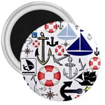 Nautical Collage 3  Button Magnet
