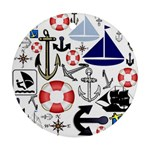 Nautical Collage Round Ornament