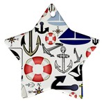 Nautical Collage Star Ornament