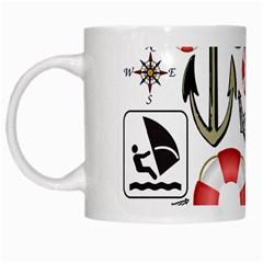Nautical Collage White Coffee Mug by StuffOrSomething